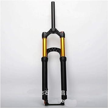 MZP MTB Horquilla Suspensión para Bicicleta 26 27.5 Pulgadas Doble Cámara Aire Freno Disco QR 9mm Recorrido 125mm Bloqueo Manual ABS Bicicleta XC 1700g: Amazon.es: Deportes y aire libre