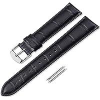 iStrap 12 13 14 15 16 17 18 19 20 21 22 24mm Bracelets de Montres en Cuir véritablestraps Grain Alligator Pattern Remplacement Bracelet de Montre -Marron