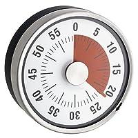 Minuteur Mécanique de Cuisine - Inox - Magnétique - Ø 8 X 3.2 cm
