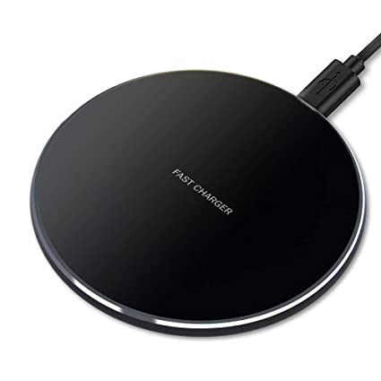GLOUE Wireless Charger, 10W Qi-Guaranteed Wireless Charging Compatible with iPhone Xs Max/XS/XR/X/8/8 Plus, Compatible with Galaxy S9/S9+/S8/S8+/Note ...