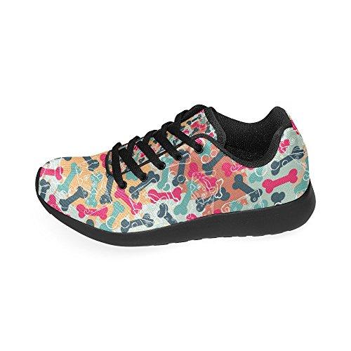 11 Negro Lona Negro Zenzzle Color Zapatillas de de Running Mujer Para xv8qIv0p