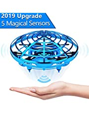 Apsung Hand Operated Drone for Kids Toddlers Adults - Hands Free Mini Drones for Kids Flying Toys Gifts for Boys and Girls Hand Drone 6 7 8 9 10 Years Old Kids Self Flying Drone