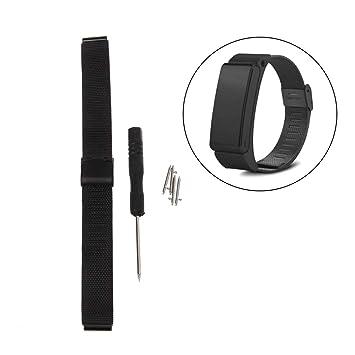Jiamins Correa para Relojes, Acero Banda de Reloj de Repuesto para Huawei B2 Talkband: Amazon.es: Deportes y aire libre