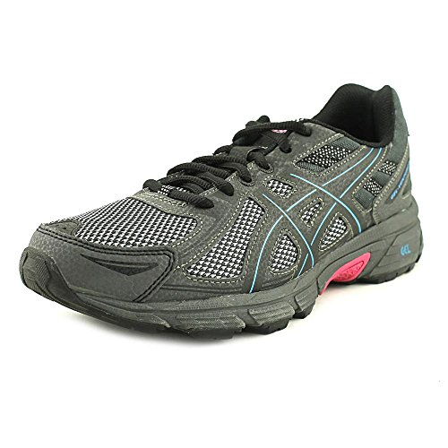 (ASICS Women's Gel-Venture 6 Running Shoe, Black/Island Blue/Pink, 8.5 M)