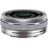 Olympus 14-42mm f3.5-5.6 EZ Interchangeable Lens for Olympus/Panasonic Micro 4/3 Digital Camera (Silver)