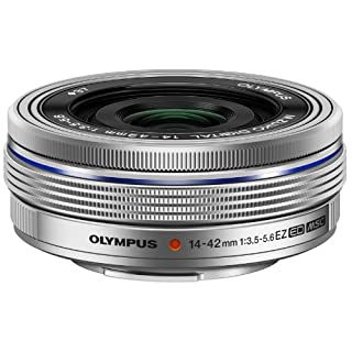 Olympus M.Zuiko Digital ED 14-42mm F3.5-5.6 EZ Lens, for Micro Four Thirds Cameras (Silver)