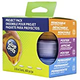 Glue Dots Project Pack, Includes 3 Dispensers, Each with 200 (.375 Inch) Diameter Adhesive Dots, Permanent, Removable and Poster Adhesives (85111)