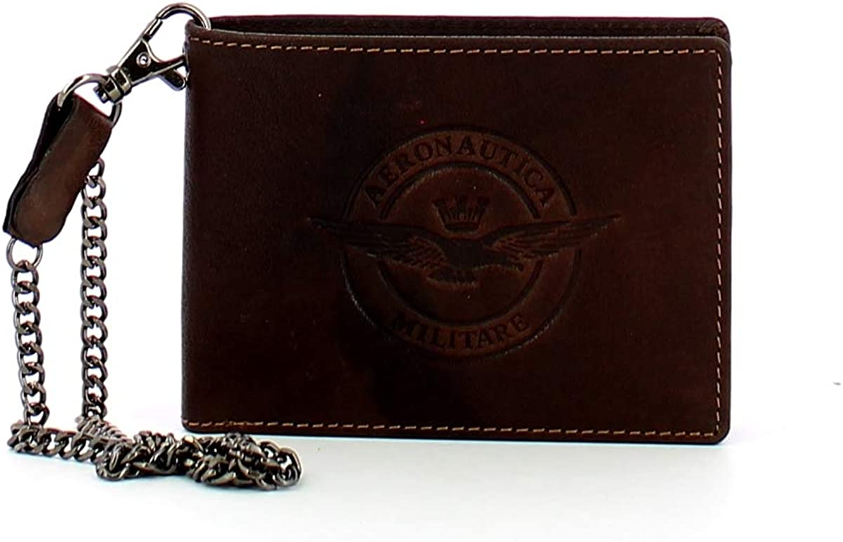 Aeronautica Militare Biker wallet with chain and coin pocket