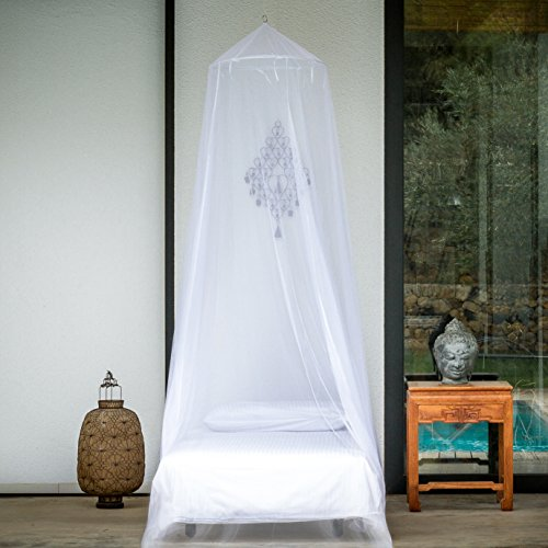 PREMIUM MOSQUITO NET for Single, Twin, Full to Queen Size Bed, Mosquito Netting Curtains, Canopy for Beds, Round Insect Fly Protection Screen, Full Hanging Kit, Easy Installation, Gift Bag & - Protection Bug Net Mosquito