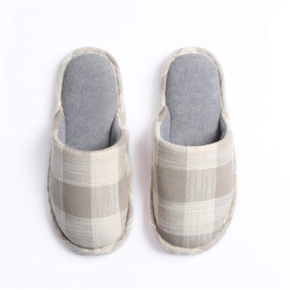 2 Lady Slippers Four Seasons Home Slippers Ladies Soft Indoor and Leisure Slippers Plaid Pattern Cute Girlish Keep Warm Casual Female shoes