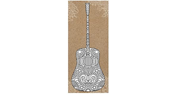 Paper House Tarjetas de Papel para Colorear con diseño de Guitarra ...