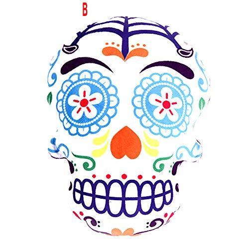 Mayunn Karma Living Pillow Dia De Los Muertos Day of The Dead Sugar Skull Halloween for Living Room Sofa Bedroom Car -
