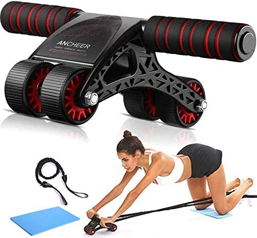 ANCHEER Ab Roller Kit for Core Workout – Perfect Home Gym Equipment for Men Women Abdominal Exercise – Ab Roller for Abs Workout – Ab Roller Wheel Exercise Equipment