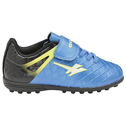 Gola Sport - Zapatillas de fútbol con cierre adhesico modelo Ativo 5 Talos VX para niños Voltio/Negro/Azul Pro