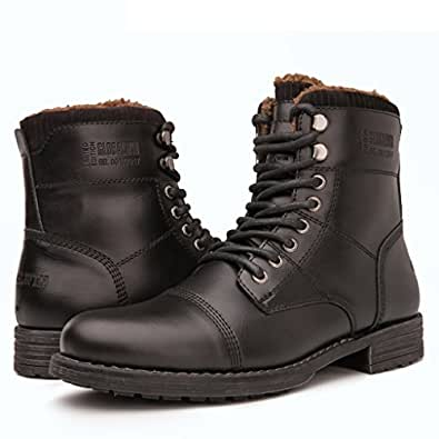 Amazon.com | Globalwin Mens Fashion Lace Up Cap Toe Winter