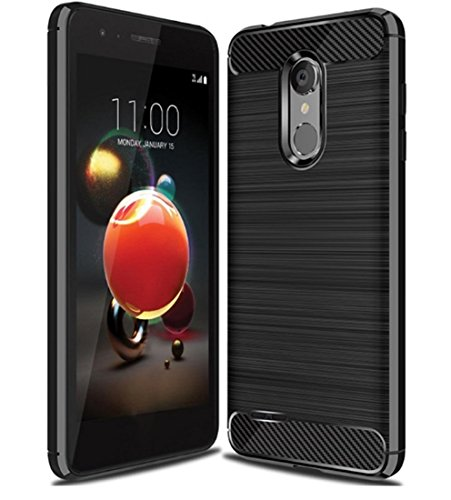 LG Aristo 2 Case,LG Tribute Dynasty Case,LG K8 2018 Case,LG V3 2018 case Ucc Frosted Shield Luxury Matte Plastic Slim and Anti-Scratch and Non-Slip Case Cover for LG Aristo 2 X210 (Black)