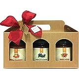 Tris di composte biologiche Efit - Rosa Canina- Mirtilli e ginepro - Ribes rosso - Confezione regalo di Natale