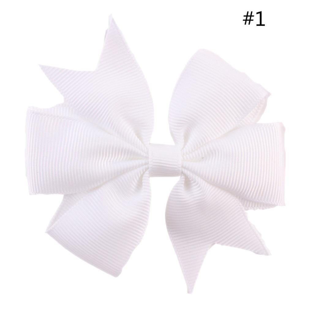 Amazoncom Lotusflower Ribbon Bowknot Hairpins Kids Girl Hair