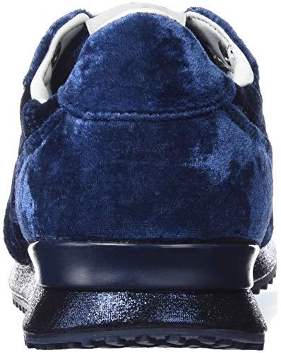Gable Basses Bleunavy Femme Pepe Jeans 595 Velvet Sneakers 7Yfbv6gy