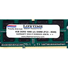 4GB DDR3-SDRAM PC3-8500 1066MHz 2rx8 1.5v CL7 204-pin SO-DIMM 4 GB Memory Ram for Apple or PC Laptops