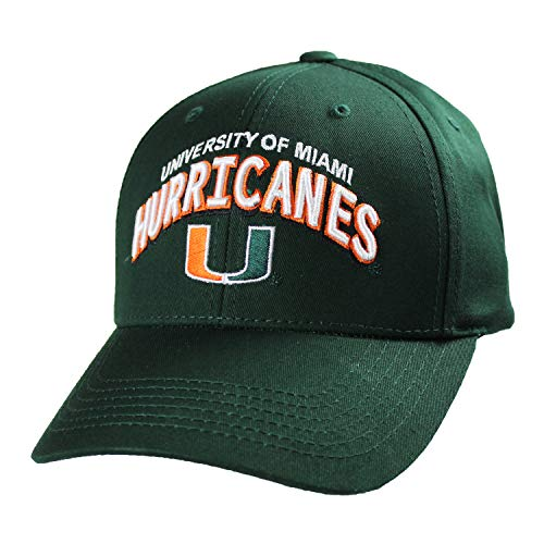 Top of the World Miami Hurricanes Official NCAA Adjustable Curved Bill C Deal Hat Cap 773469 (Miami Hurricanes Merchandise)