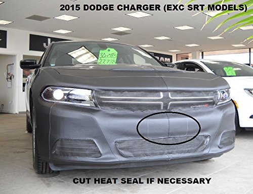 Lebra 2 piece Front End Cover Black - Car Mask Bra - Fits - 2015-2016 Dodge Charger (Except SRT models & R/T Scat Pack)