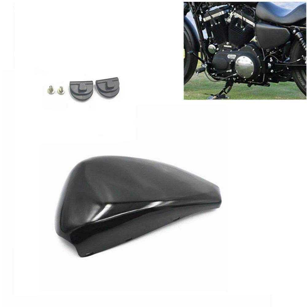 Ocamo Motorcycle Glossy Black Side Left Oil Tank Battery Covers for Harley XL883 XL1200 X48