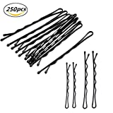 250 Pieces 2 Sizes Hair Pins for women, Black...