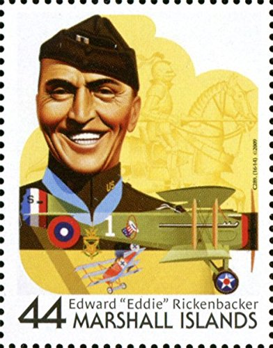 - Captain Eddie Rickenbacker Flying Ace of WW I Single Postage Stamp (This is a hard to find postage stamp!) Marshall Islands #938n