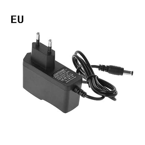 JENOR - Cargador de batería de Litio 18650 (Enchufe Europeo ...