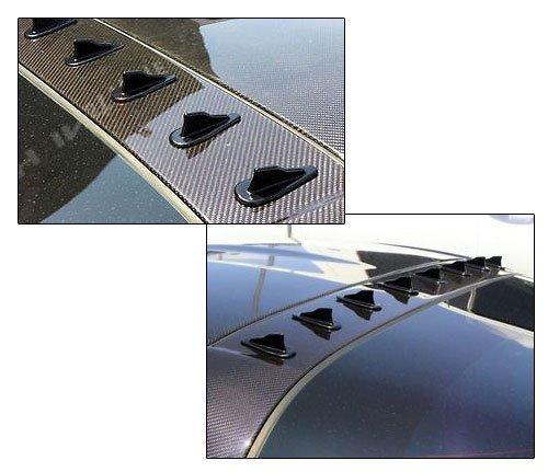 (Roof Spoiler Fits Lexus EVO Style Vortex Generator Roof Spoiler Shark Fins PP Spoiler 10 Pcs Set by IKON MOTORSPORTS | 1997 1998 1999 2000 2001 2002 2003 2004 2005 2006 2007 2008 2009 2010 2011 2012)