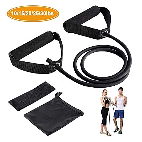 XLW Resistance Bands,Exercise Bands with Handles,Home & Gym Strength Training Tubes, Resistance Loop Bands for Men/Women…