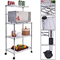 3-Tier Kitchen Bakers Rack Microwave Oven Stand Storage Cart Workstation Shelf