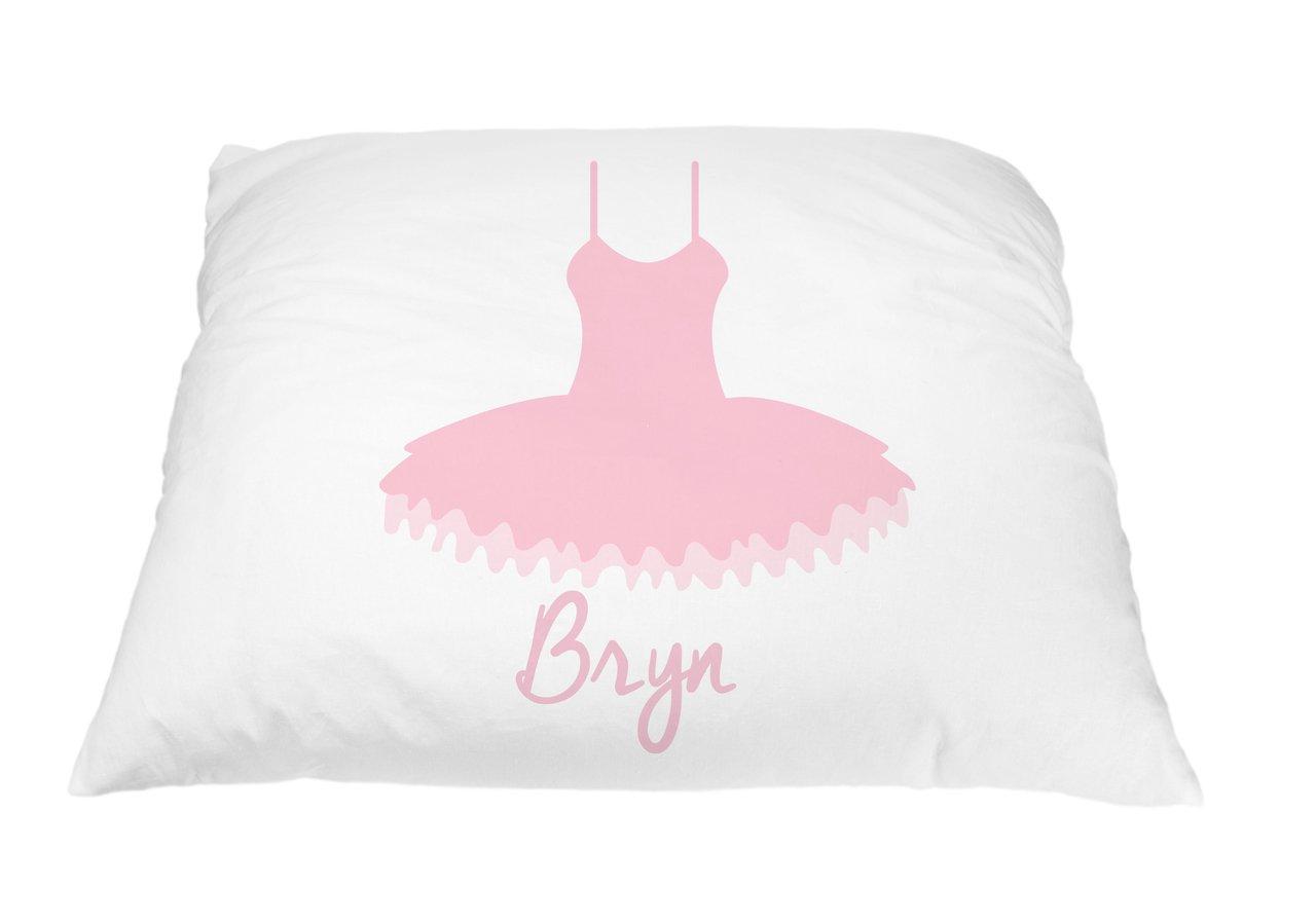 Ballerina Pillow Case Gift for Little Girl Dancers - Ballet Recital Gift, Personalized Dance Gifts, Ballerina Room Decorations, Dance Gifts for Girls, Microfiber Dance Pillowcase 20x30 Inches