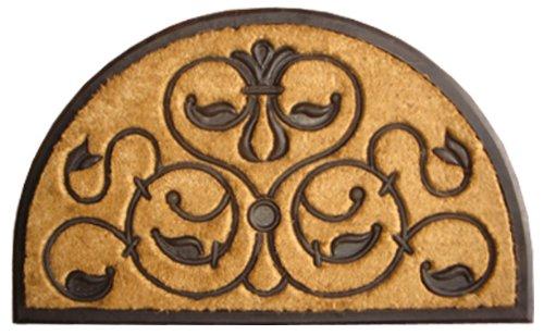 Imports Decor Half-round Rubber Back Coir Doormat, Brigoder, 18-Inch by 30-Inch