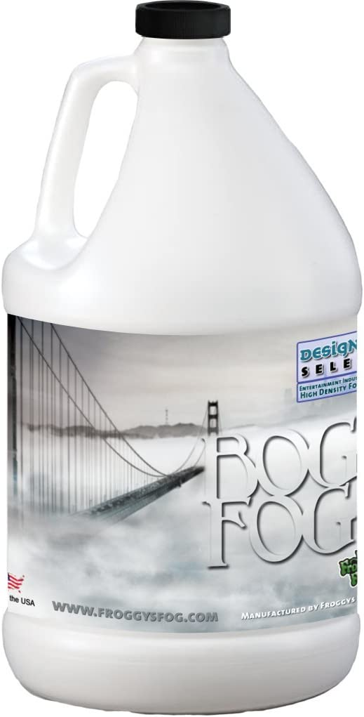 Froggys Fog - Bog Fog - Extreme High Density Fog Fluid - Long 2 Hour Hang Time - For Halloween, Haunted Attractions, White-Out Effects - 1 Gallon