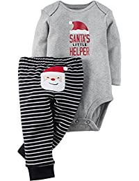 Carter's Baby Boys' Christmas 2-Piece Bodysuit & Pant Set