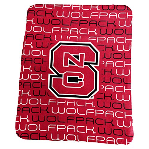 Logo Brands NCAA North Carolina State Wolfpack Classic Fleece, One Size, Red ()