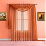 Warm Home Designs Pair Of Long Length Bright Orange Sheer Window Curtains.  Each Voile Drape Is 56 X 96 Inches In Size. Great For Kitchen, Living Or  Kids ...