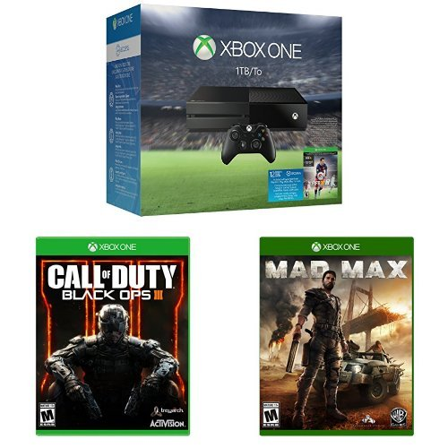 Xbox One 1TB Console - EA Sports FIFA 16 Bundle + Call of Duty: Black Ops III + Mad Max