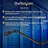 StarTech.com Horizontal Lacing Bar w/ 4 inch Offset
