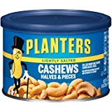 Planters Cashew Halves & Pieces, Lightly Salted, 8 Ounce Canister (Pack of 4)