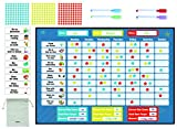 Inamio Reward Chart - Behavior Chart for Kids - Magnetic Star Chart for Boys and Girls - Toddlers Chore Chart Includes 300 Stars. 12 x 17