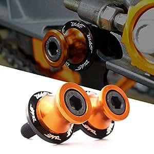 Diábolos Moto Basculante Bobina de Deslizadores Tornillo del Soporte M10 10mm CNC Aluminio para Duke 125 200 390 RC 125 200 390 990,naranja