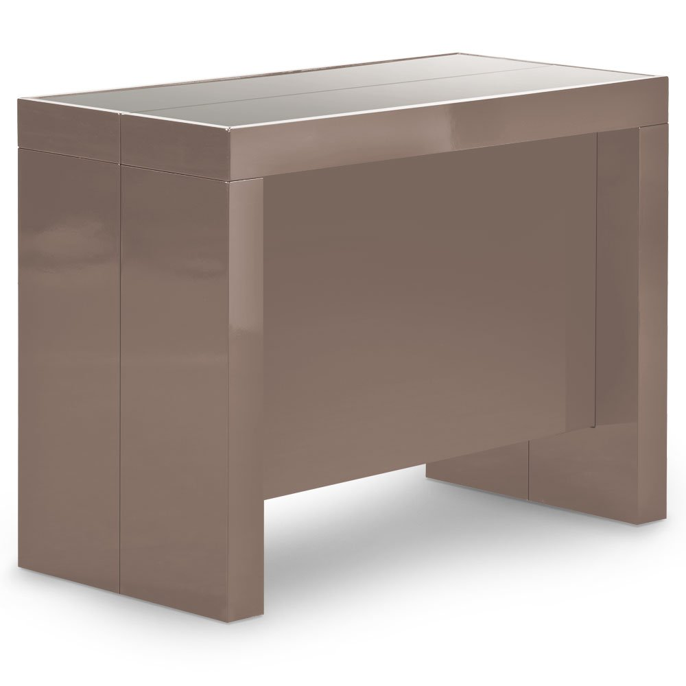 Table Console Extensible 3 Allonges Int Gr Es Milano Laqu Blanc