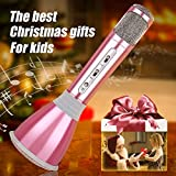 Microphone Kids,Upgraded Karaoke Microphones Portable Hand Cordless Mic with Bluetooth Speaker Toy Microphone for Boy Girl Family KTV Party...