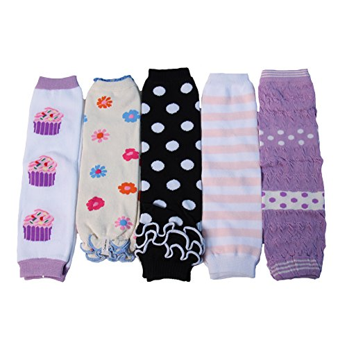 Value Multi Pairs Girls Princess Leg Warmer Collection (5 Pairs, (Easy Halloween Cupcake Ideas)
