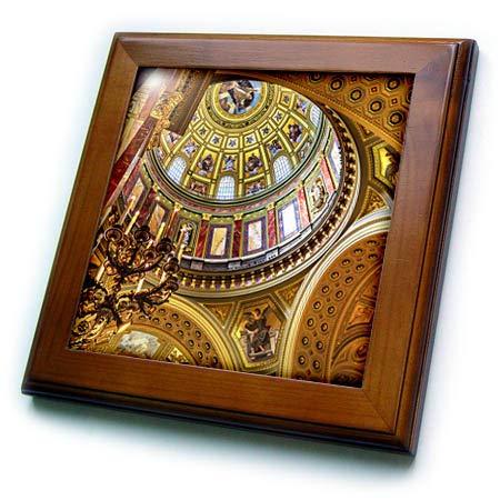 3dRose Danita Delimont - Hungary - St. Stephens Cathedral, Budapest, Hungary. Interior. - 8x8 Framed Tile (ft_313622_1)