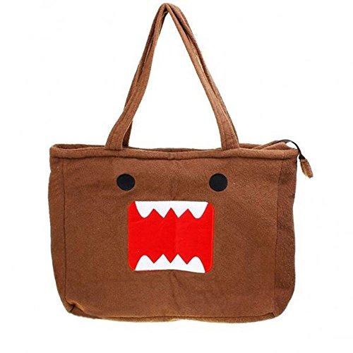 [Domo Kun Shoulder Tote Handbag] (Domo Kun Handbag)