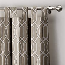 """Imperial Trellis Curtain 50""""W x 84""""L, Tab Top Blackout Lining Drapes Panel For Bedroom Living Room Hotel Restaurant (1 Panel), LT COFFEE"""